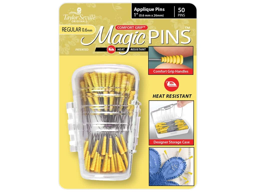 Taylor Seville Magic Pins 1 in. Regular Applique 50 pc
