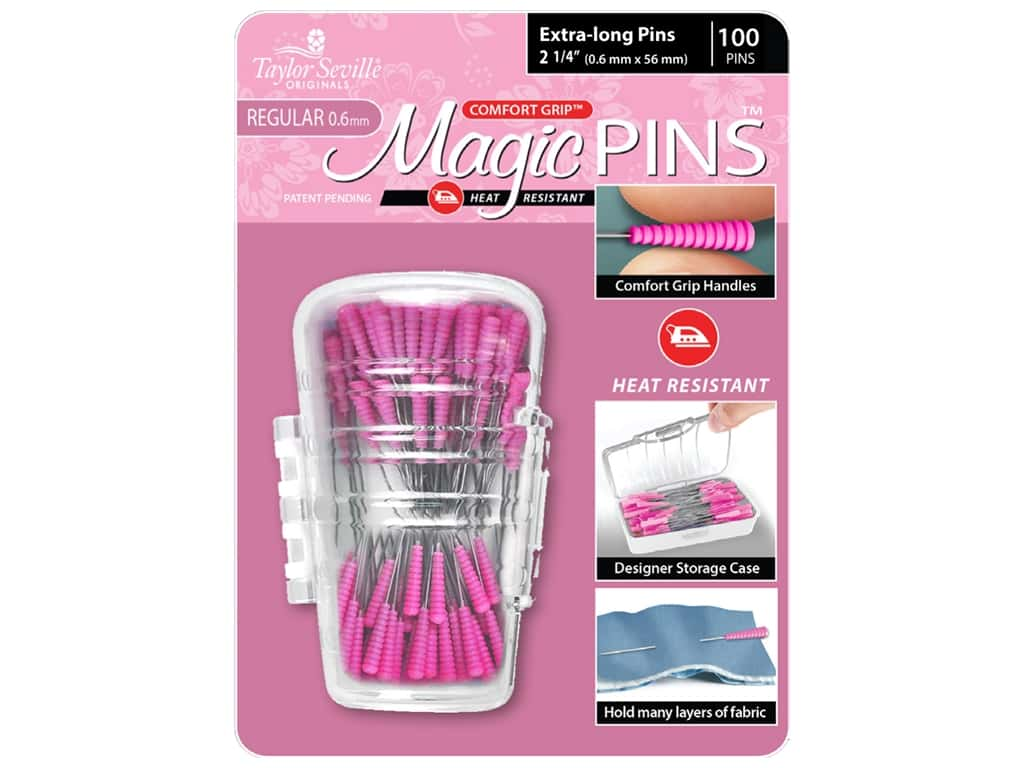 Taylor Seville Magic Pins 2 1/4 in. Regular Extra Long 100 pc