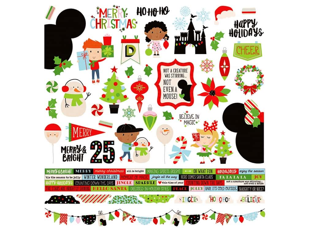 Simple Stories Collection Say Cheese Christmas Sticker Combo 12 in. x 12 in. (12 pieces)