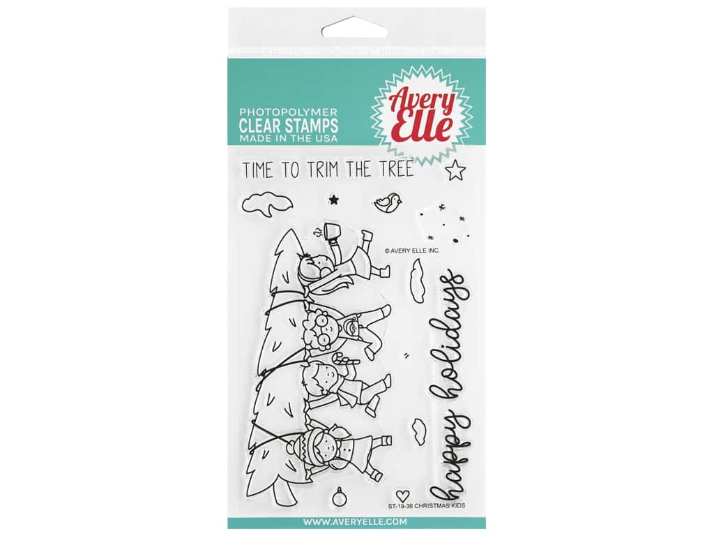 Avery Elle Clear Stamp Christmas Kids