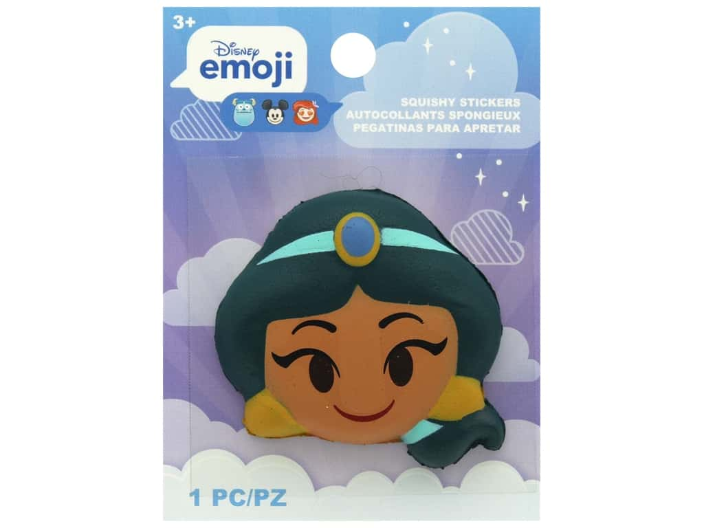 Disney Emoji Squishy Sticker Jasmine