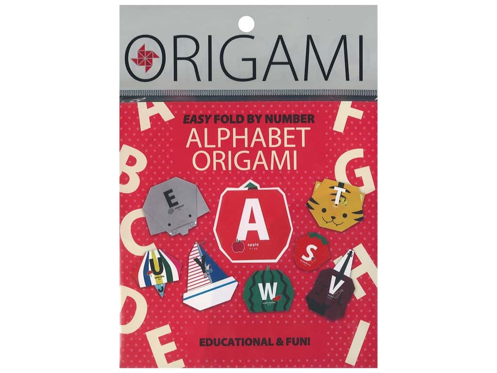Yasutomo Origami Paper 5.88 in. Alphabet 30 pc