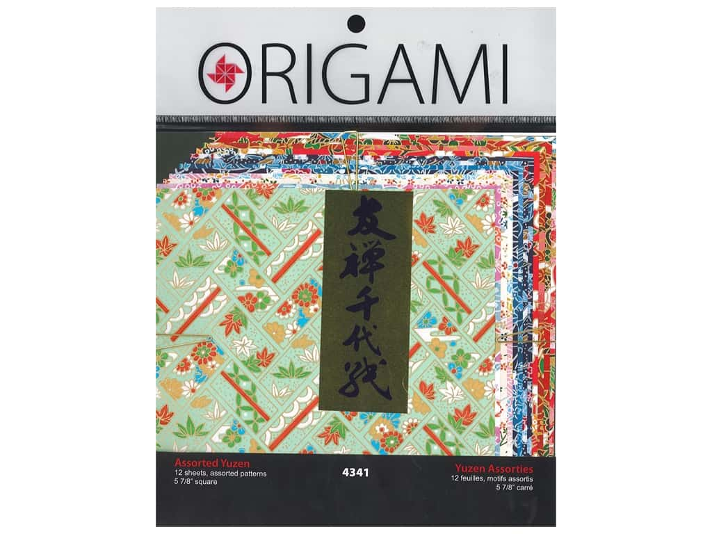 Yasutomo Origami Paper 5.88 in. Authentic Yuzen Assorted 12 pc