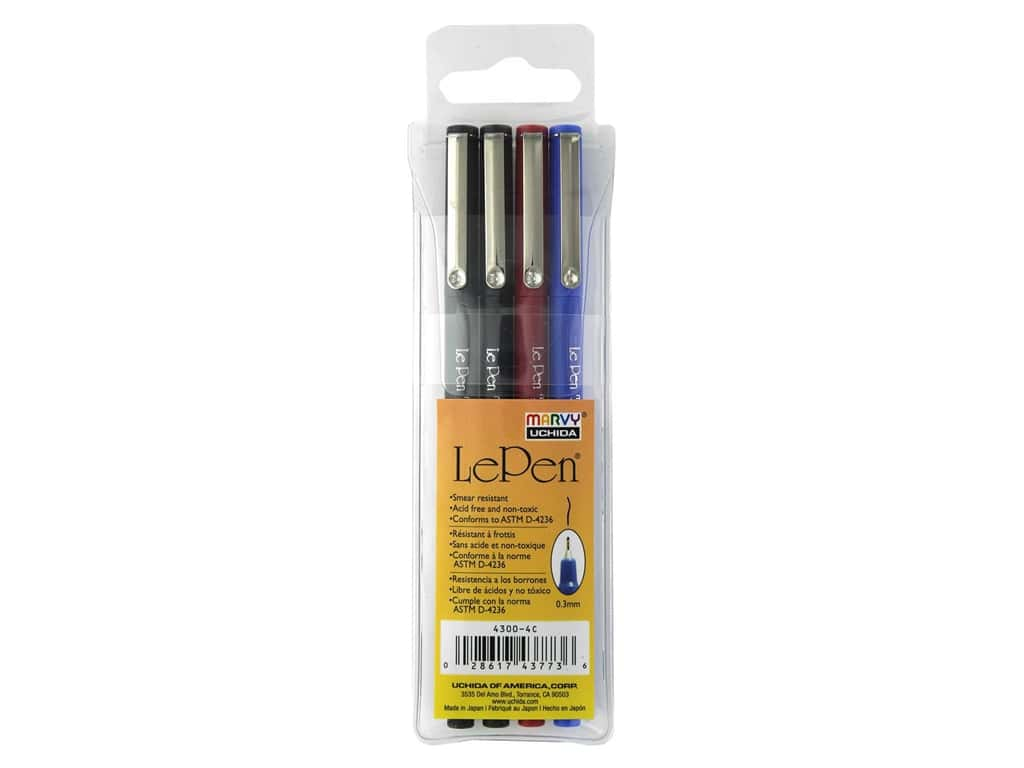 Uchida Le Pen .3 mm Set Basic 4 pc