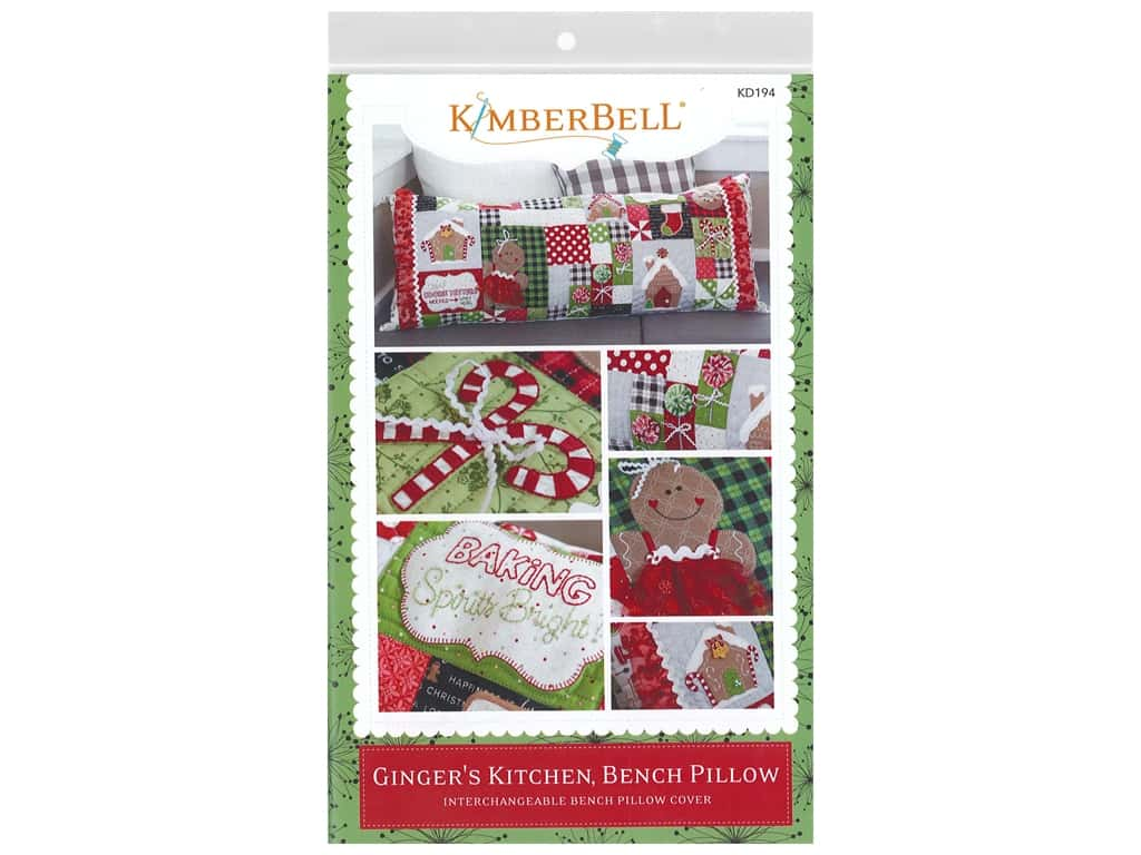 Kimberbell Designs Ginger's Kitchen Bench Pillow Pattern
