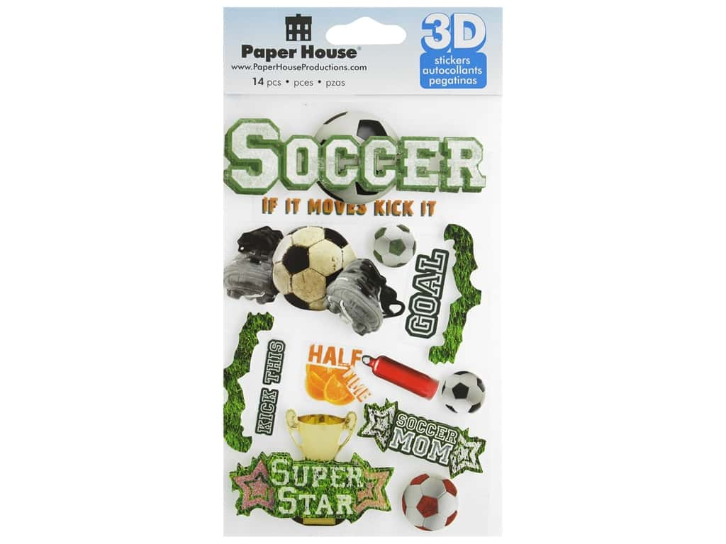 Paper House 3D Stickers - Soccer