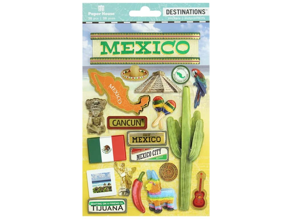Paper House Sticker 3D Destinations Mexico