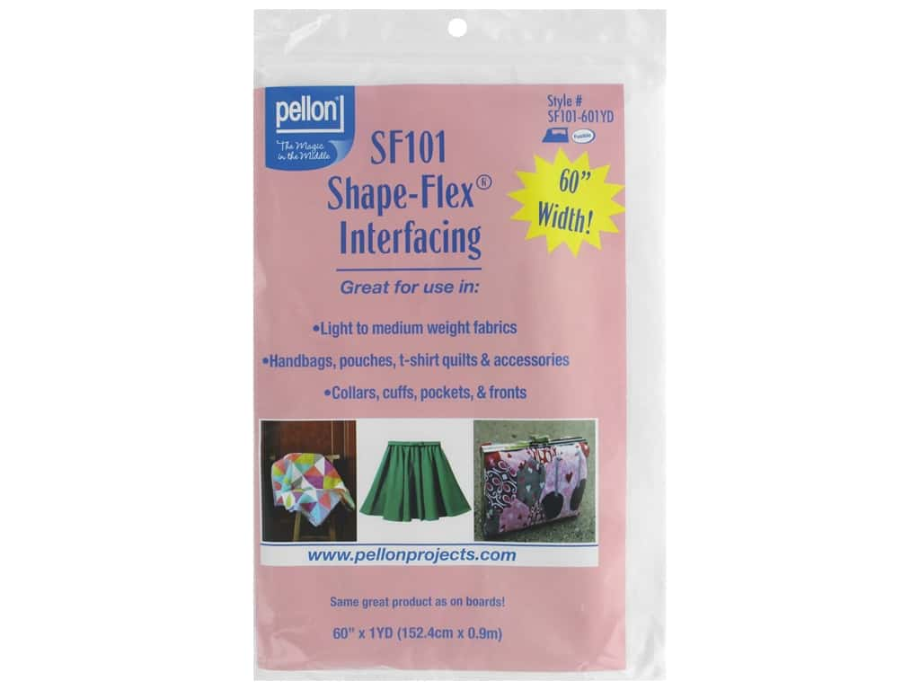 "Pellon Interfacing Shape Flex Fusible Light/Medium 60 in. x 36""  in. White"