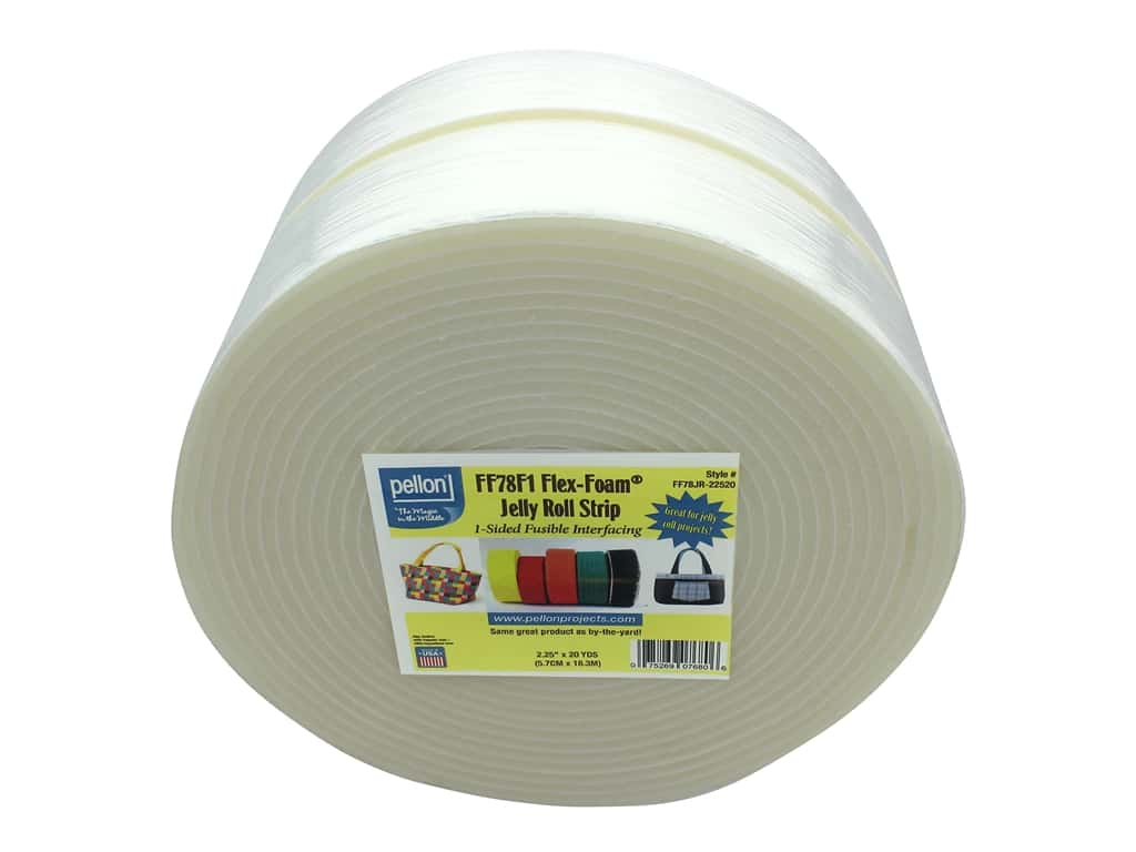 Pellon Stabilizer Jelly Roll Strip Flex Foam 1 Sided Fusible 2.25 in. x 20 yd