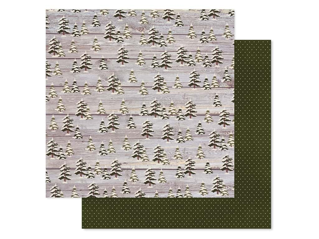 """Simple Stories Collection Winter Farmhouse Paper 12""""x 12"""" Falling Snow (25 pieces)"""