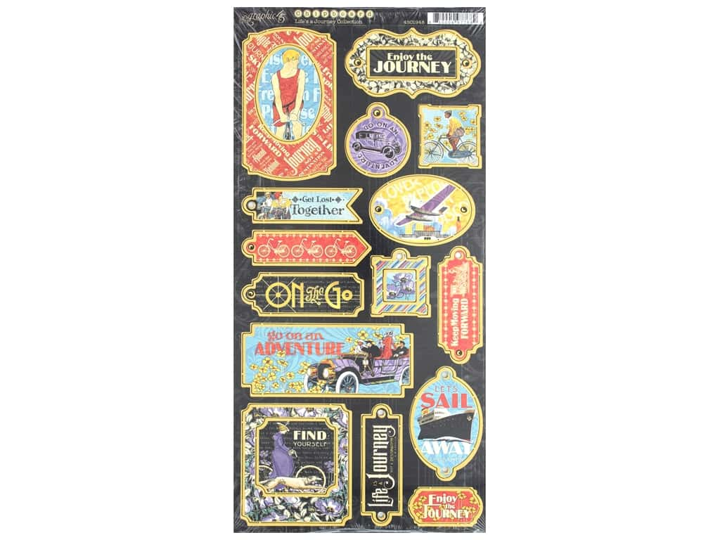 Graphic 45 Collection Lifes A Journey Chipboard
