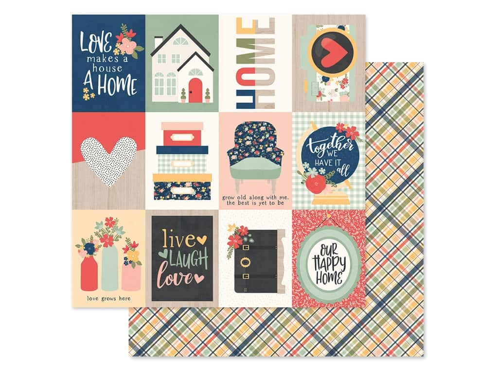 Simple Stories Collection So Happy Together Paper 12 in. x 12 in. Elements 3 in. x 4 in. (25 pieces)