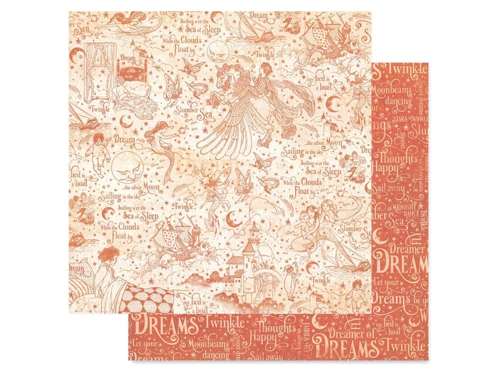 Graphic 45 Collection Dreamland Paper 12 in. x 12 in. Slumber Sea (25 pieces)