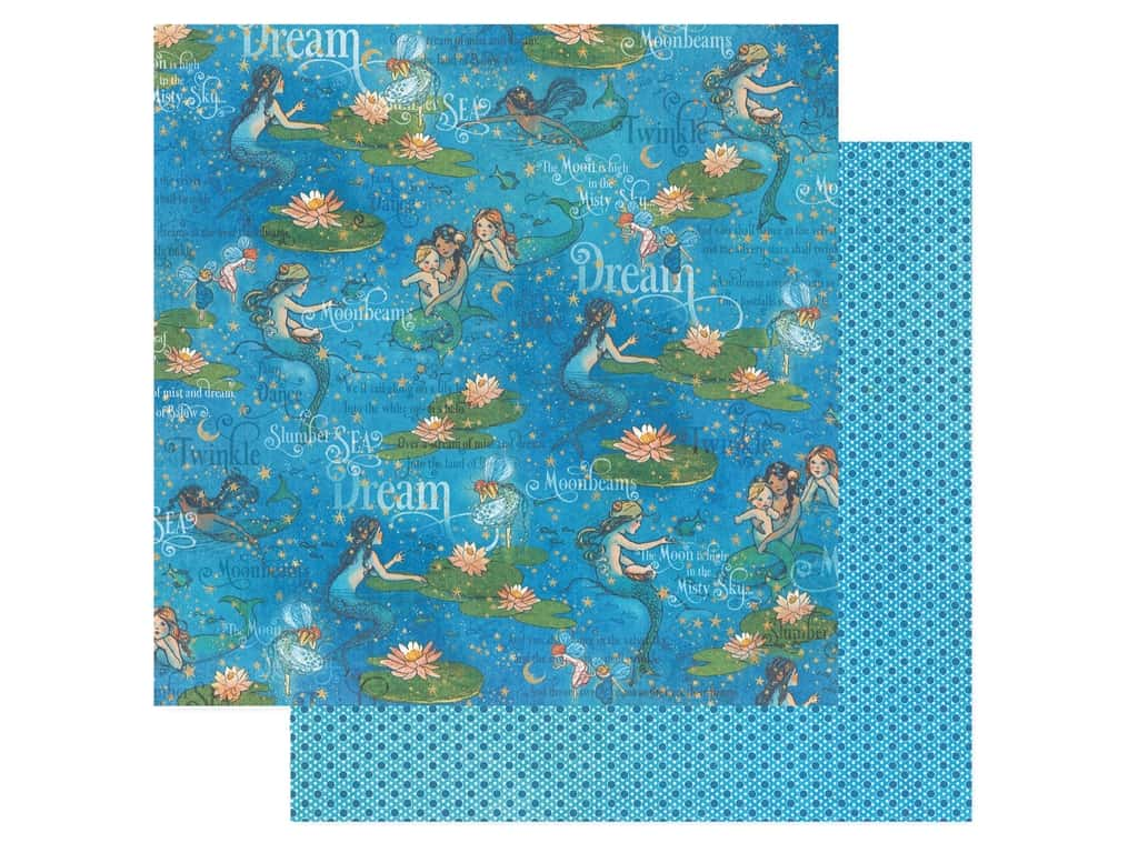 Graphic 45 Collection Dreamland Paper 12 in. x 12 in. Moonbeam Dance (25 pieces)