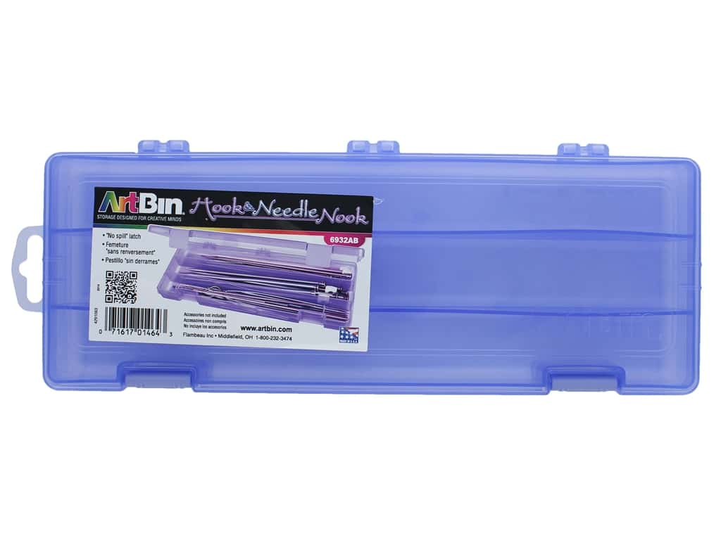 ArtBin Hook & Needle Nook Translucent Periwinkle