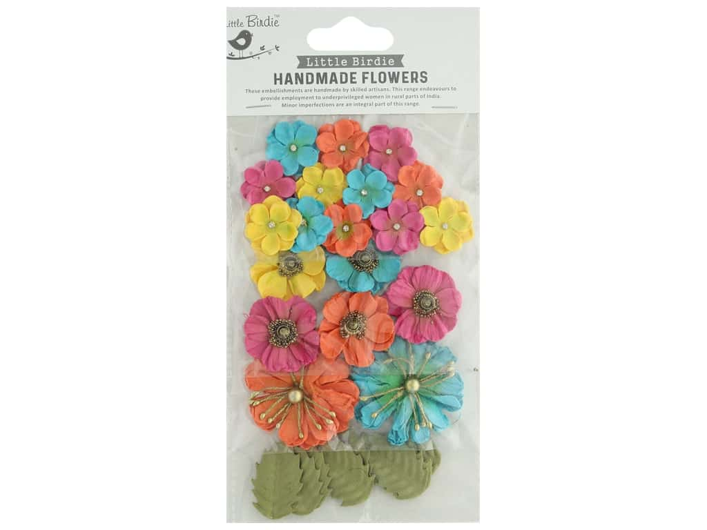 Little Birdie Handmade Flowers Renae 27 pc. Vivid Palette