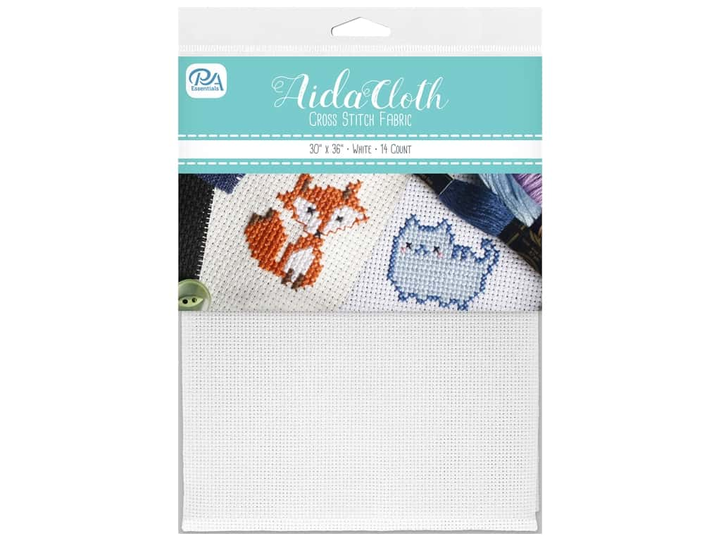PA Essentials Aida Cloth 14 ct 30 in. x 36 in. White