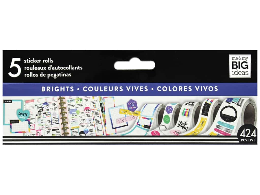 Me&My Big Ideas Happy Planner Sticker Roll Brights