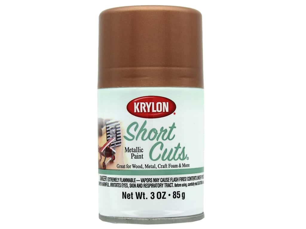 Krylon Shortcuts Aerosol Paint 3 oz Metallic Rose Gold