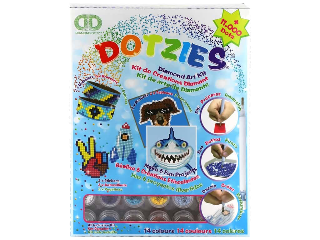 Diamond Dotz Facet Art Dotzies Variety Kit Blue