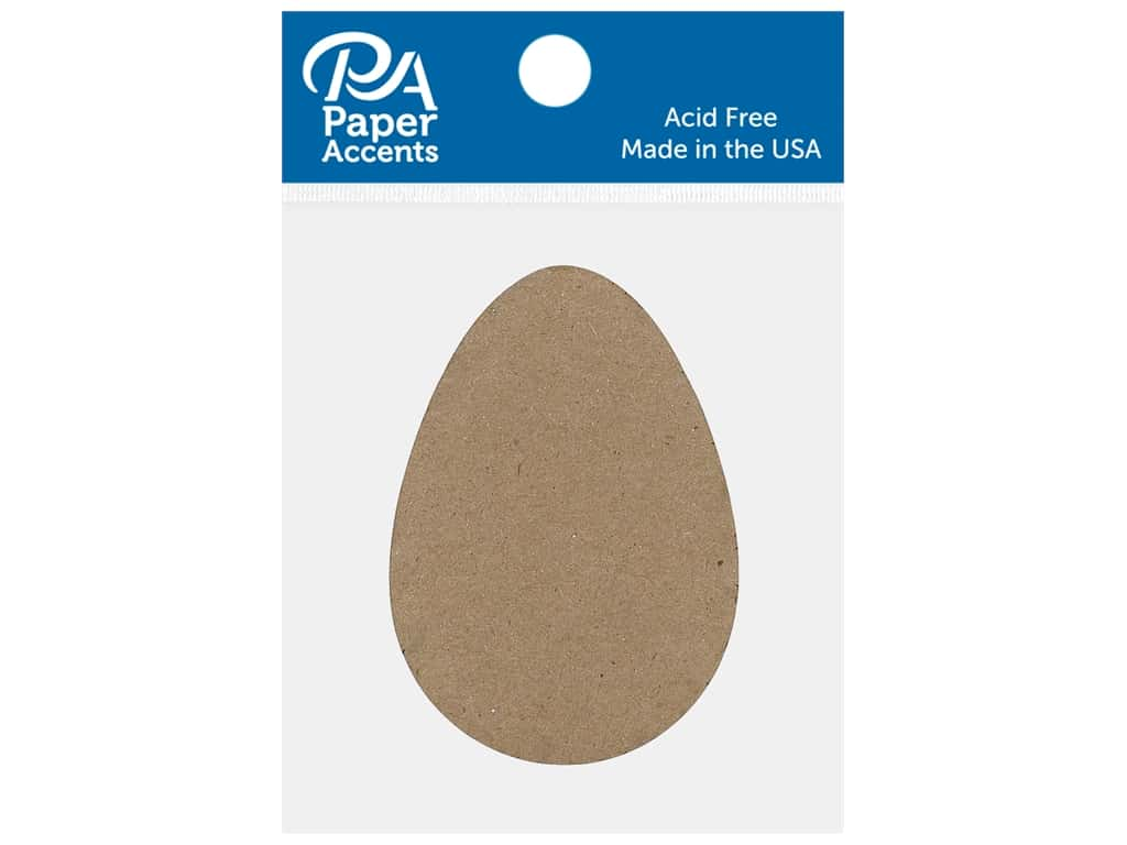 Paper Accents Chip Shape Egg Natural 8 pc