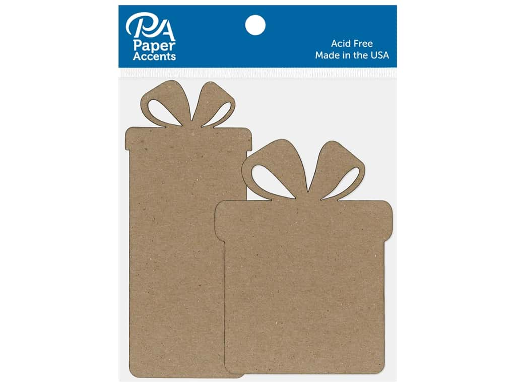 Paper Accents Chip Shape Gift/Present Box Natural 6 pc