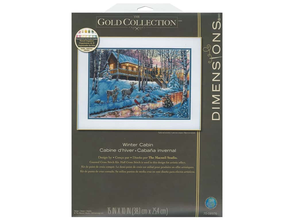 Dimensions Counted Cross Stitch Kit 15 x 10 in. Winter Cabin