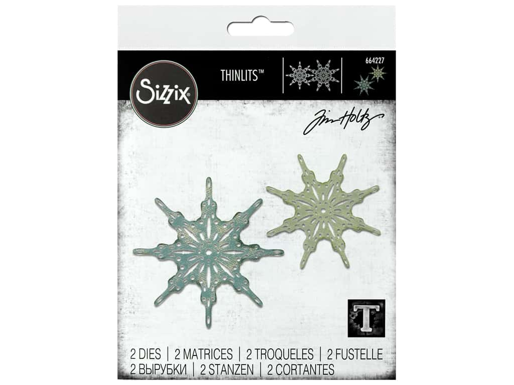 Sizzix Dies Tim Holtz Thinlits Fanciful Snowflakes