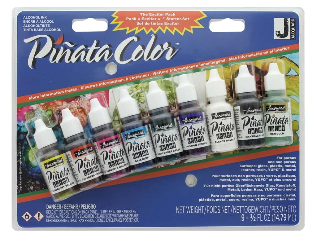 Jacquard Pinata Color Alcohol Ink Exciter Pack 9 pc