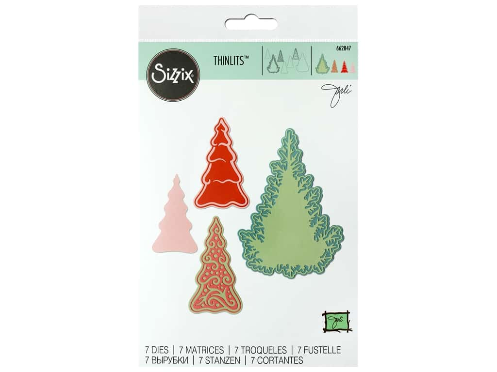 Sizzix Dies Jorli Perine Thinlits Fairy Set Background Trees