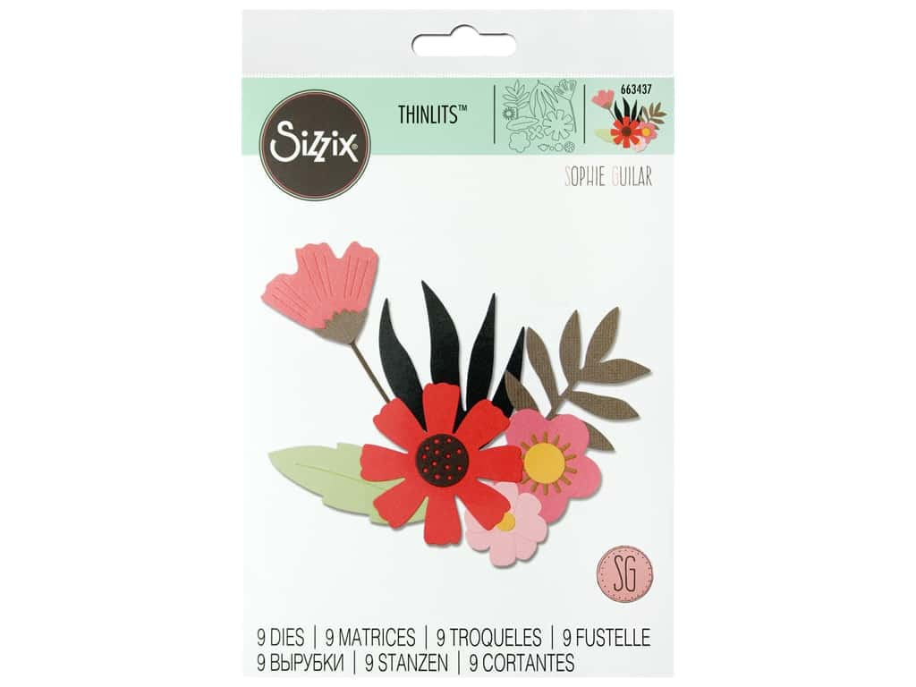 Sizzix Dies Sophie Guilar Thinlits Free Style Florals