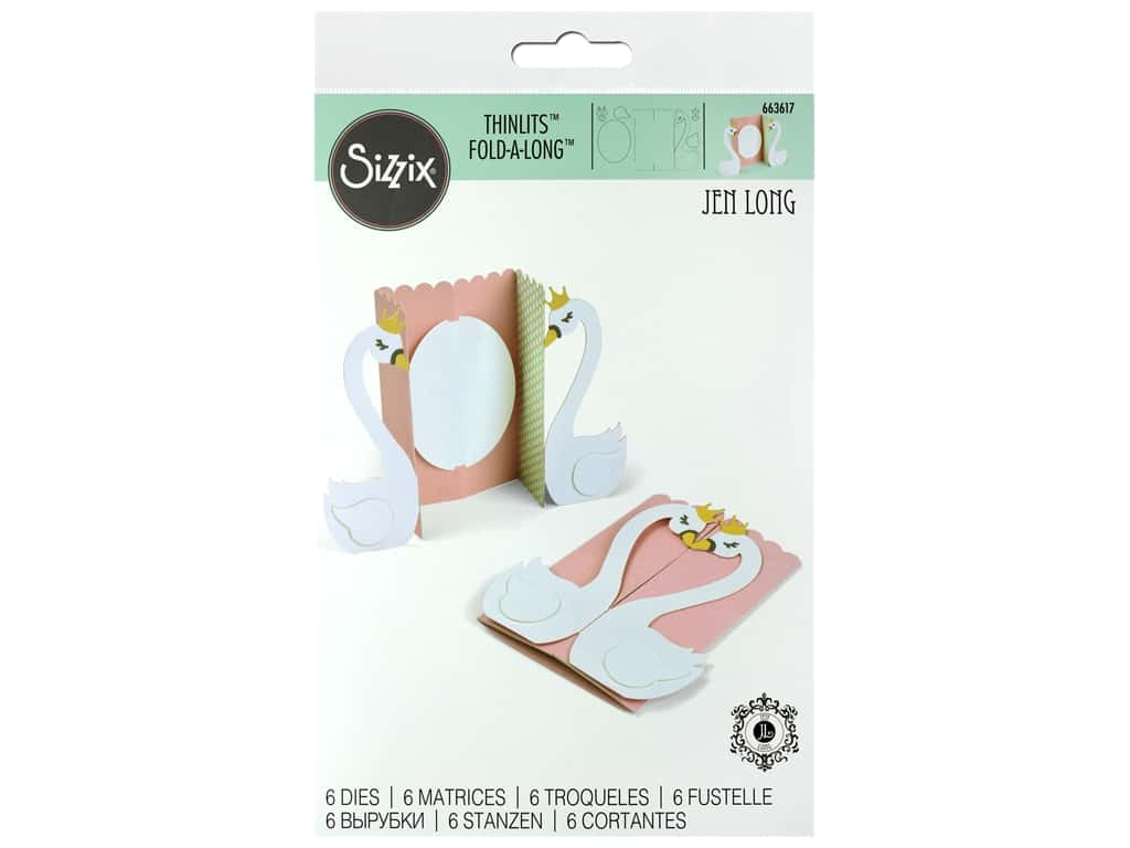 Sizzix Dies Jen Long Thinlits Swan Card Fold A Long