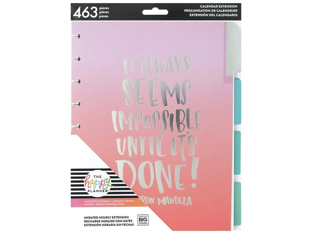 Me&My Big Ideas Happy Planner Extensions Classic Hourly