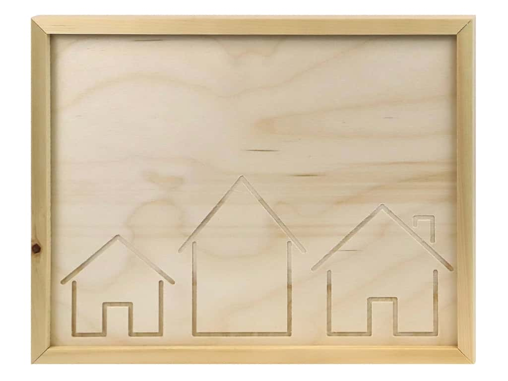 Walnut Hollow Wood Framed Sign House Large Rectangle 14 in. x 11 in.