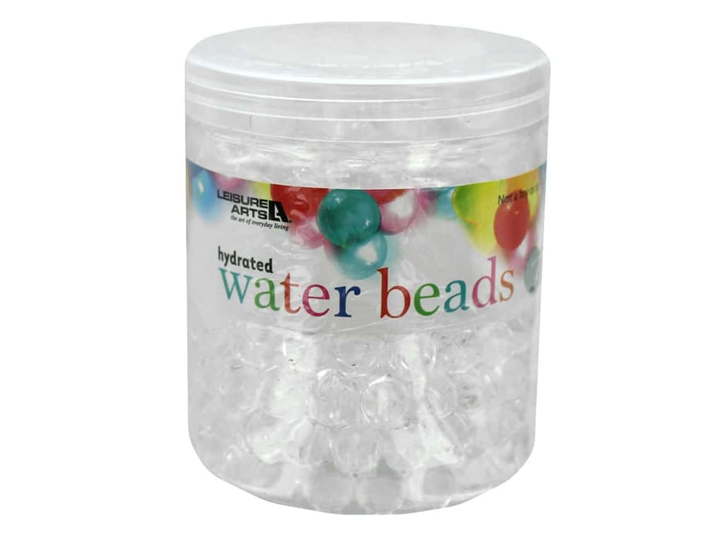 Leisure Arts Hydrated Water Beads Jar 16 oz Clear