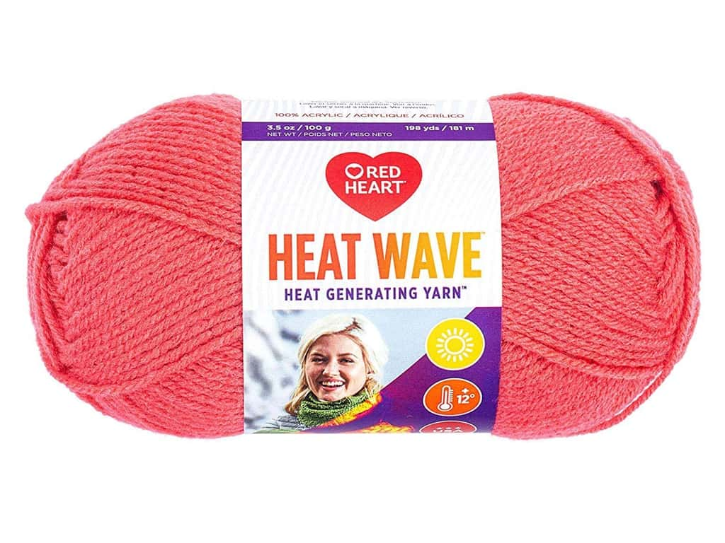 Red Heart Heat Wave Yarn 198 yd. #0200 Beach Ball