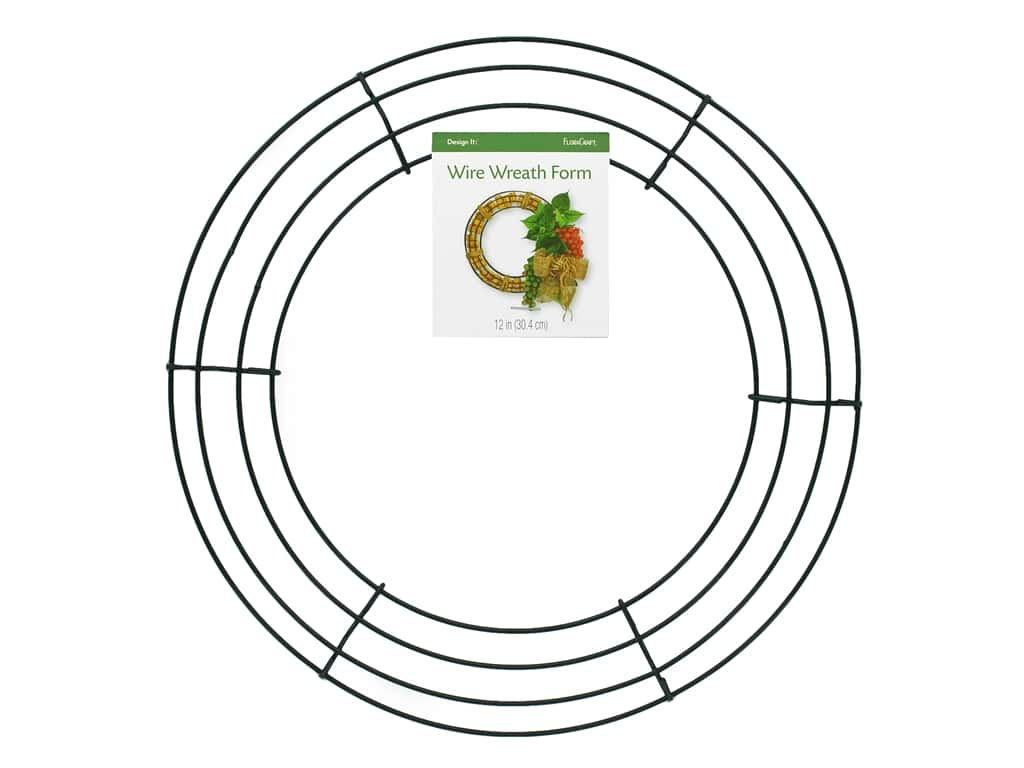 FloraCraft Wire Wreath Form 12 in. Green