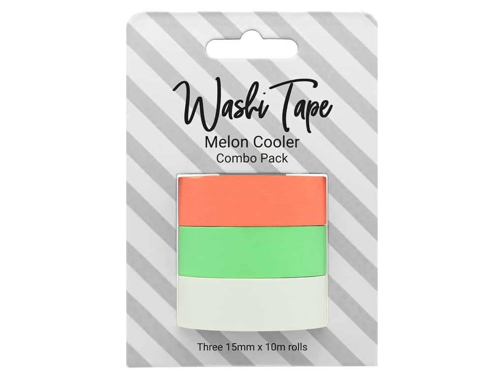 PA Essentials Washi Tape Combo Pack 3 pc. Melon Cooler