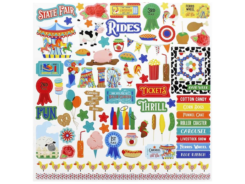Photo Play 12 x 12 in. Sticker Sheet State Fair (12 pieces)