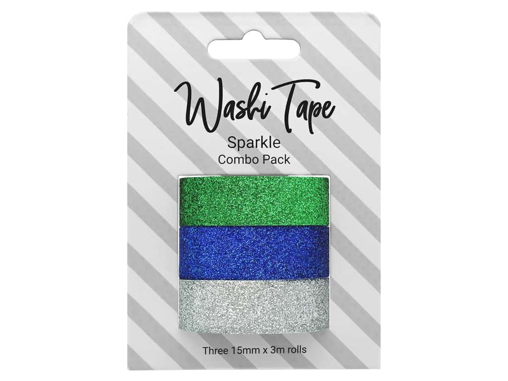 PA Essentials Washi Tape Combo Pack 3 pc. Glitter Sparkle
