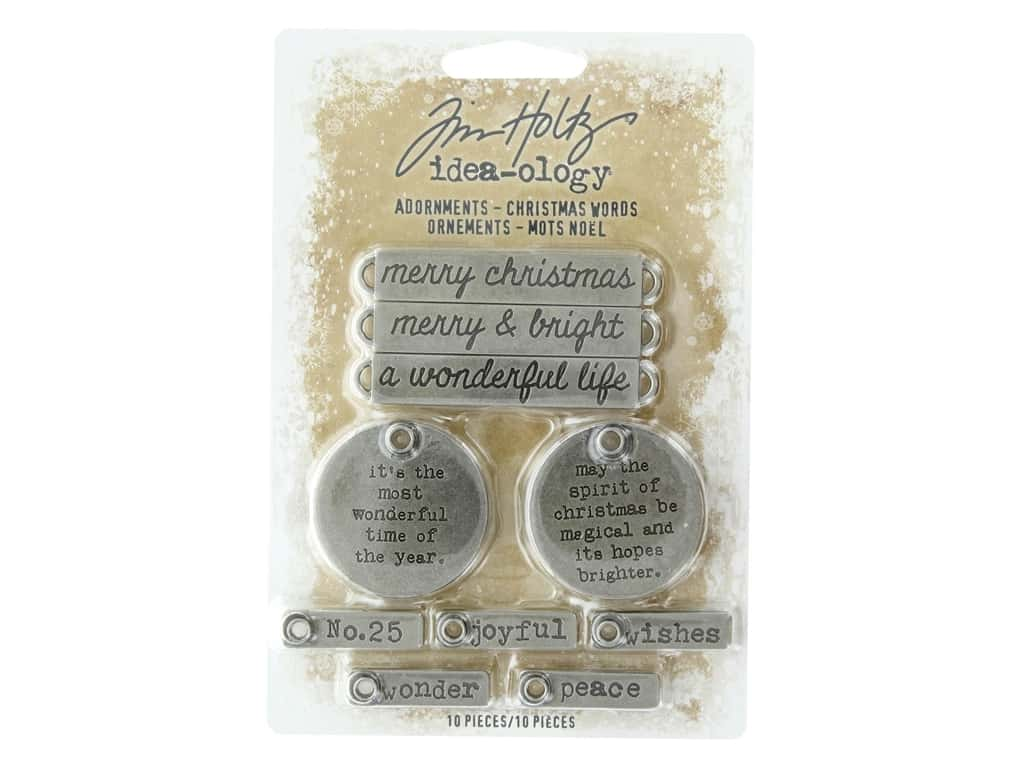 Tim Holtz Idea-ology Christmas Adornments Words