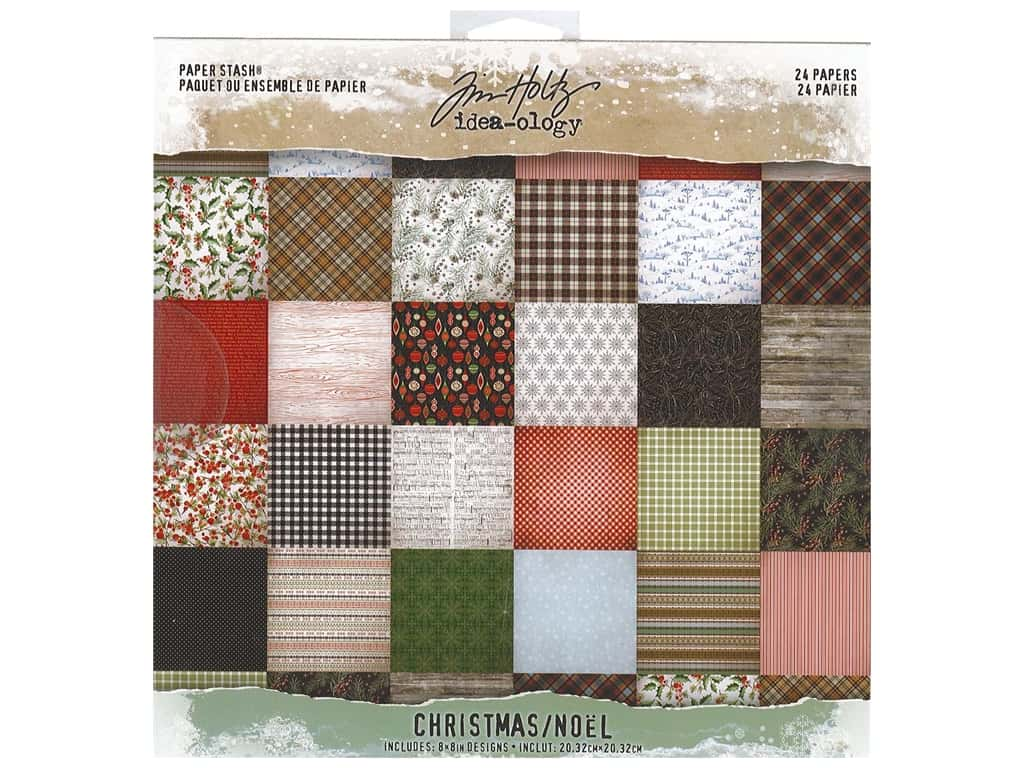 Tim Holtz Idea-ology Christmas Paper Stash 8 in. x 8 in.