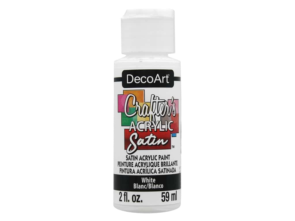 DecoArt Crafter's Acrylic Paint Satin White 2 oz