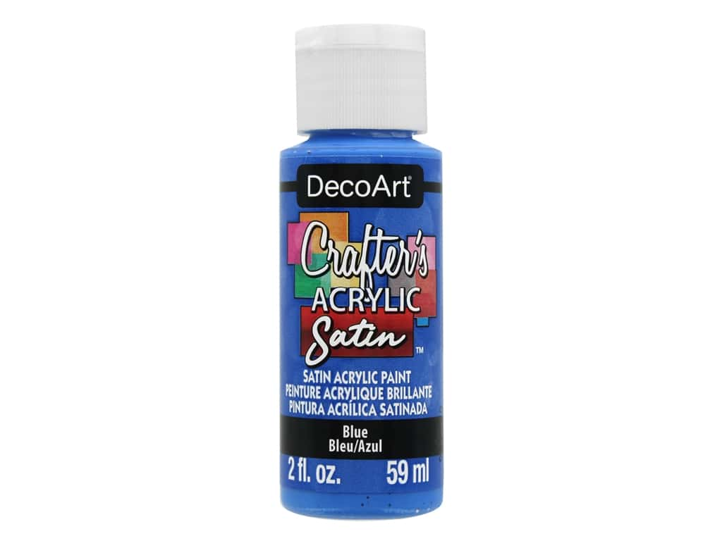 DecoArt Crafter's Acrylic Paint Satin Blue 2 oz