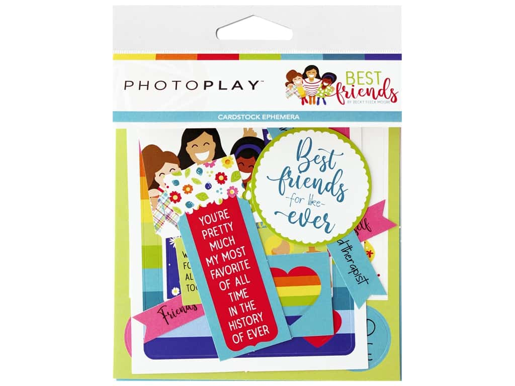 Photo Play Ephemera Best Friends