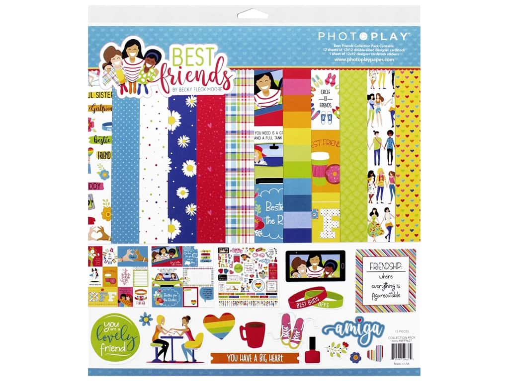 Photo Play 12 x 12 in. Collection Pack Best Friends