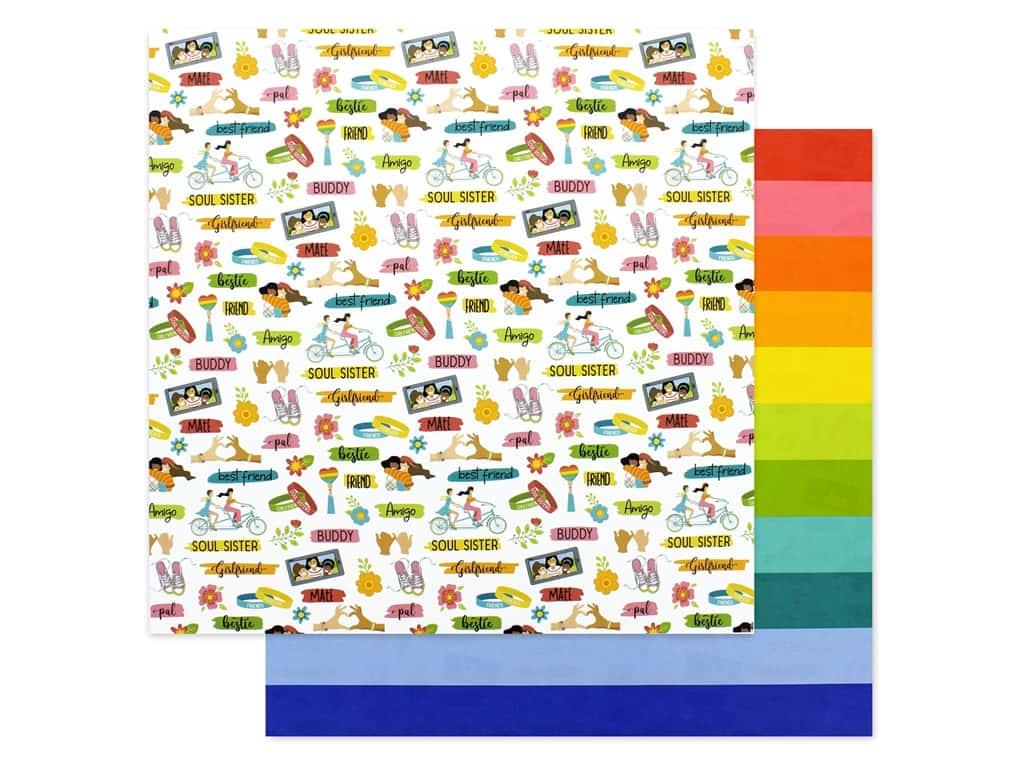 Photo Play 12 x 12 in. Paper Best Friends Friendship (25 pieces)
