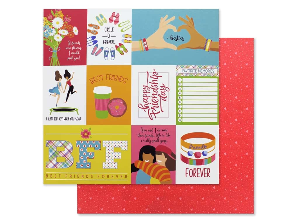 Photo Play 12 x 12 in. Paper Best Friends Besties (25 pieces)
