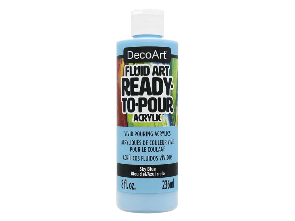 DecoArt Fluid Art Ready-To-Pour Acrylic Paint 8 oz. Sky Blue