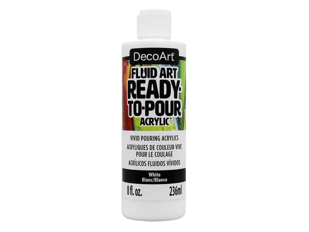 DecoArt Fluid Art Ready-To-Pour Acrylic Paint 8 oz. White